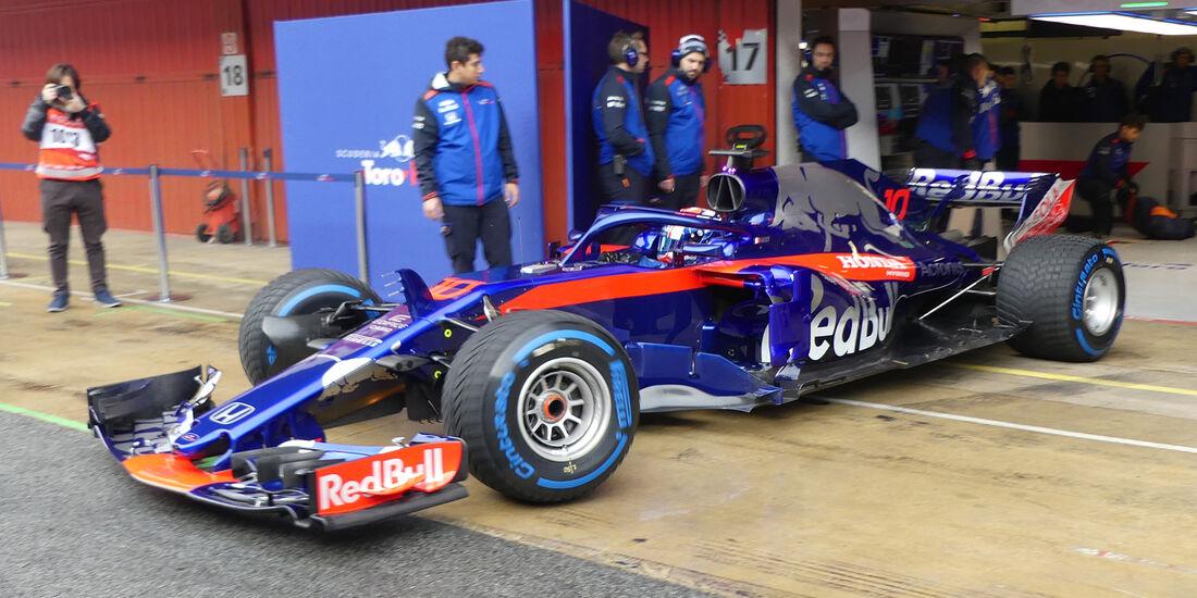Pierre Gasly - Toro Rosso - Formel 1 Test - Barcelona - Tag 4 - 1. März 2018