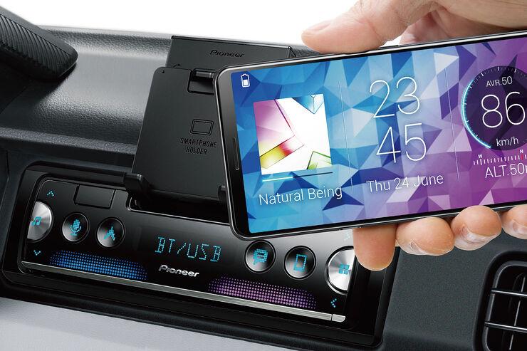 pioneer sph 10bt autoradio mit smartphone halter auto motor und sport. Black Bedroom Furniture Sets. Home Design Ideas