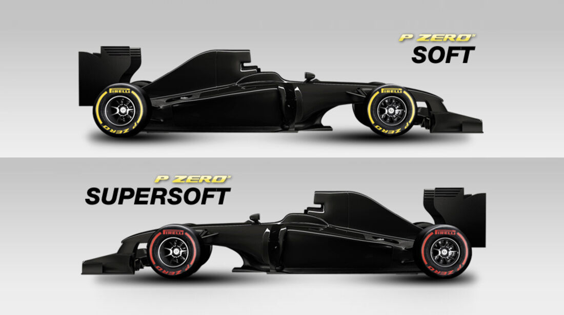 Pirelli Reifen 2012 - soft & supersoft