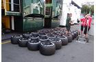 Pirelli-Reifen - Formel 1 - GP Italien - Monza - 5. September 2013