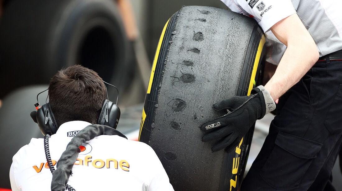 Pirelli-Reifen (McLaren) - Formel 1 - GP Indien - 25. Oktober 2013