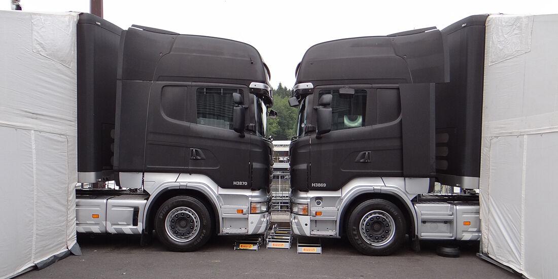 Pirelli-Trucks - Formel 1 - GP Belgien - Spa-Francorchamps - 22. August 2013