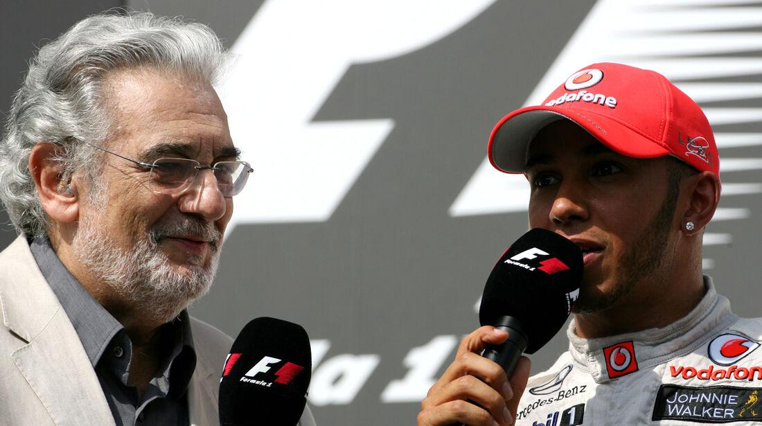 Placido Domingo & Lewis Hamilton GP Ungarn 2012