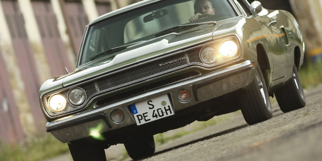 Plymouth Roadrunner 440, Front, Kühlergrill