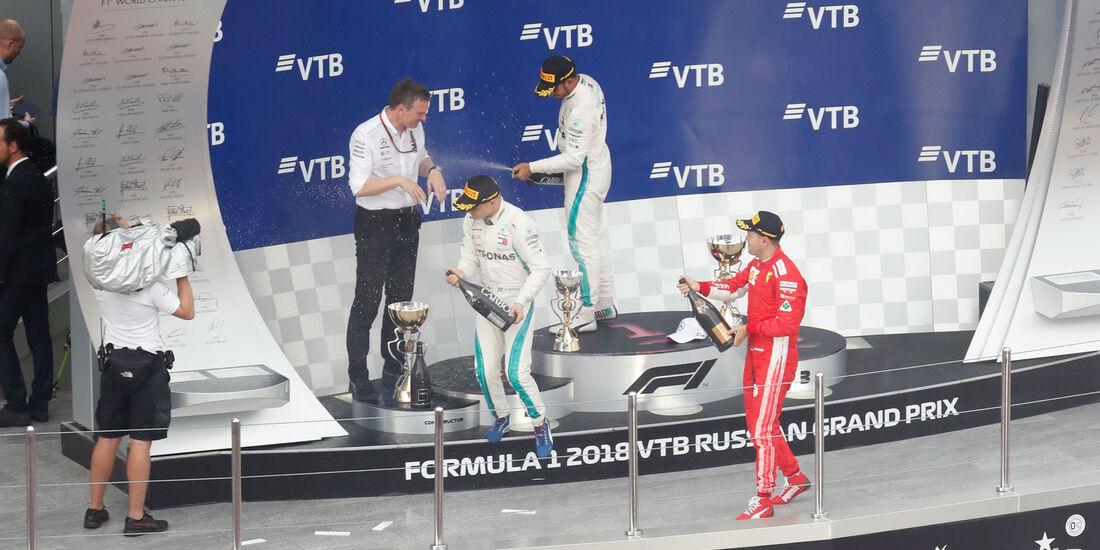 Podest - GP Russland 2018 - Sotschi - Rennen