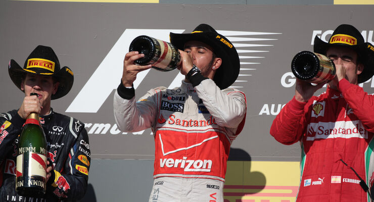 Podium Formel 1 Austin GP USA 2012