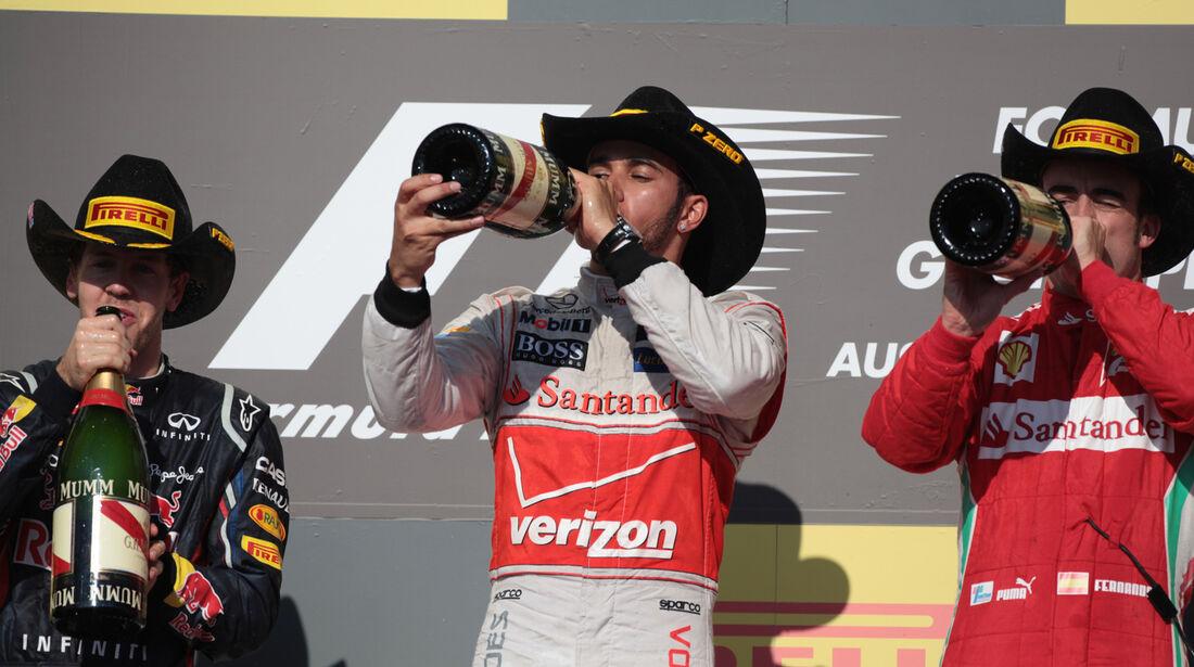 Podium Formel 1 Austin GP USA 2012