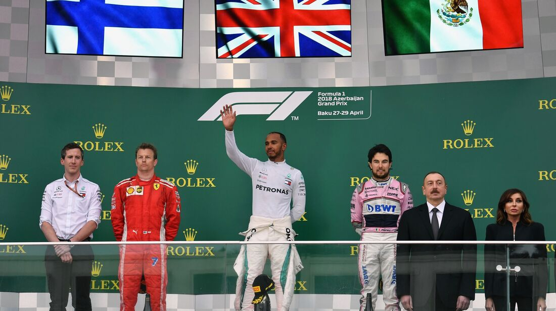 Podium - Formel 1 - GP Aserbaidschan - 29. April 2018