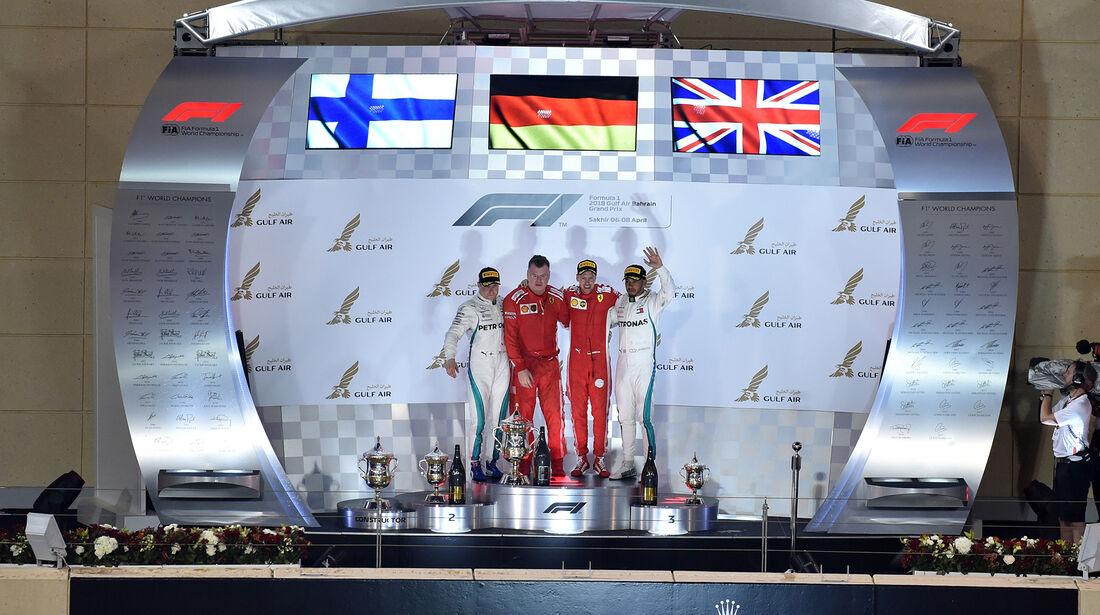 Podium - Formel 1 - GP Bahrain 2018