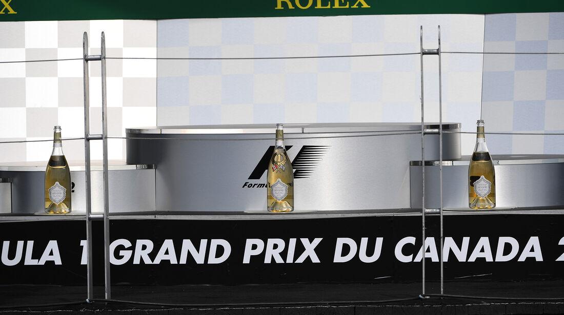 Podium - Formel 1 - GP Kanada - Montreal - 10. Juni 2017