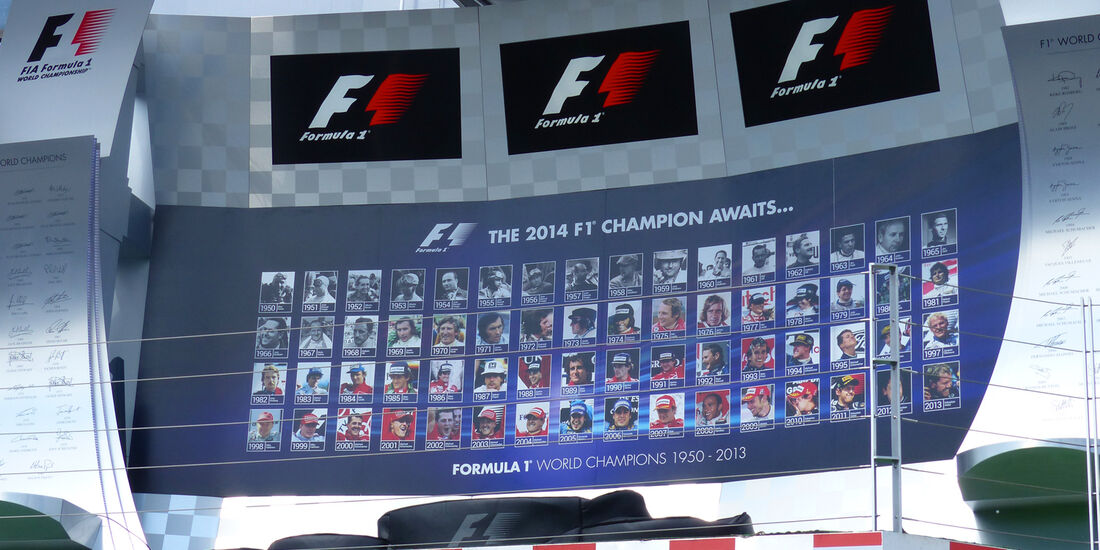 Podium - Formel 1 - GP Ungarn - Budapest - 24. Juli 2014