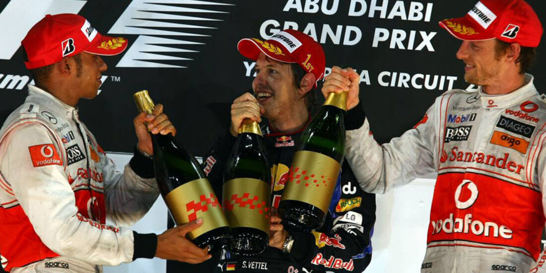 Podium GP Abu Dhabi 2010