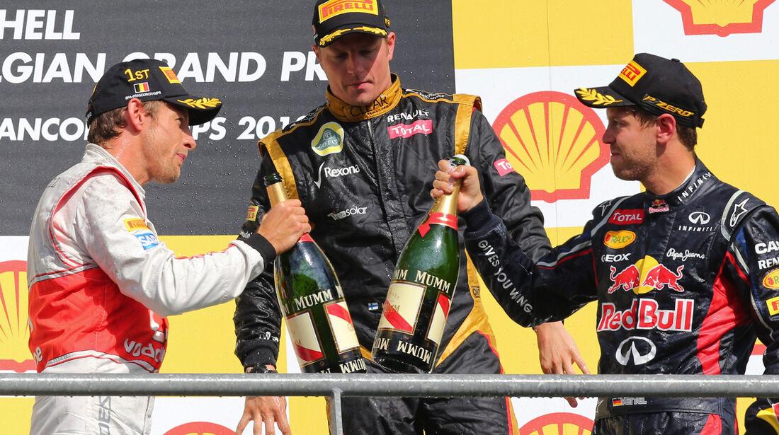 Podium - GP Belgien 2012