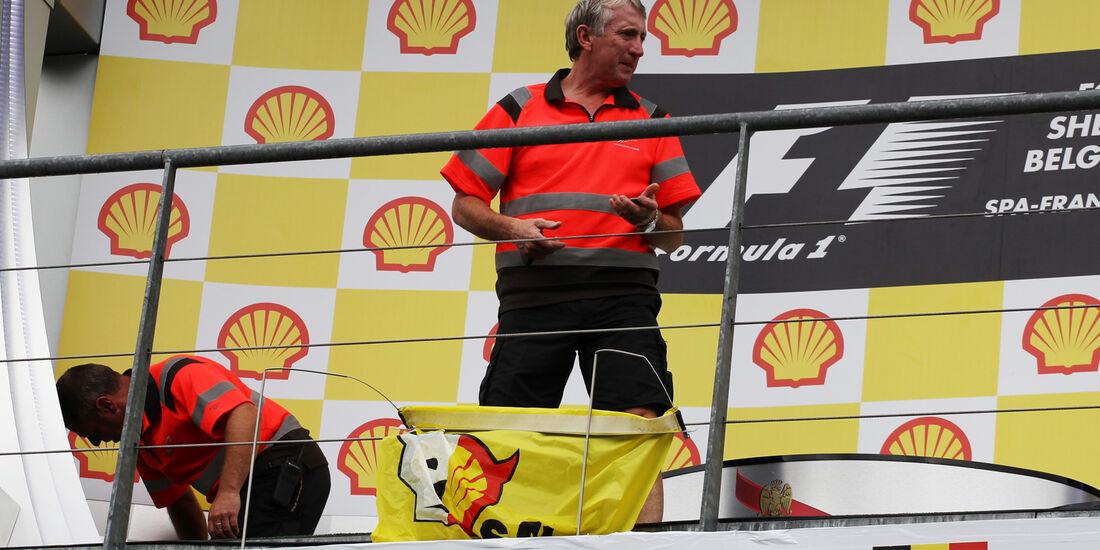 Podium - GP Belgien 2013
