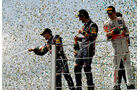 Podium GP Brasilien 2011