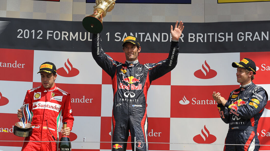 Podium GP England 2012