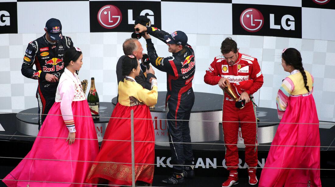 Podium GP Korea 2012