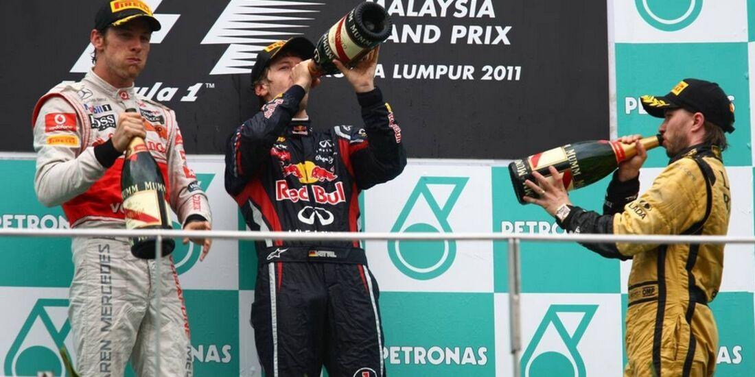 Podium GP Malaysia 2011 Formel 1