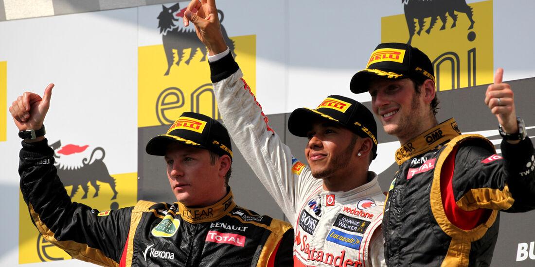 Podium - GP Ungarn 2012
