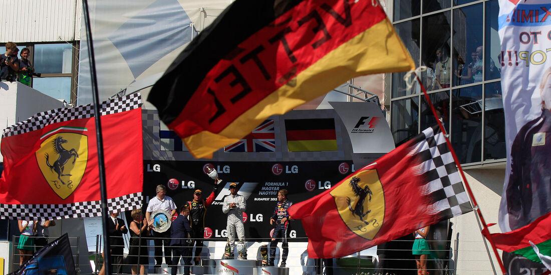 Podium - GP Ungarn 2013