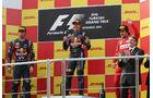 Podium Sebastian Vettel Mark Webber Fernando Alonso Formel 1 GP Türkei 2011