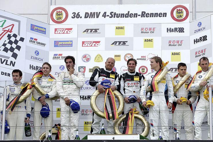 Podium VLN 2.Rennen Langstreckenmeisterschaft Nürburgring 30-04-2011