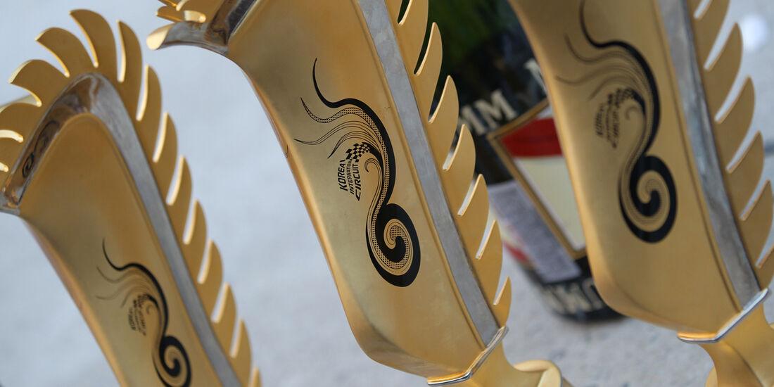 Pokale  GP Korea 2012