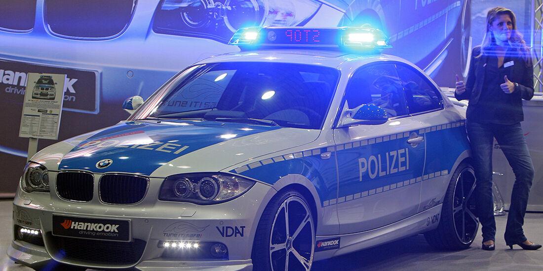 Polizeiauto BMW 1er.
