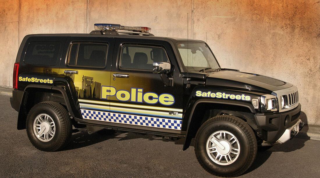 Polizeiauto Hummer H3