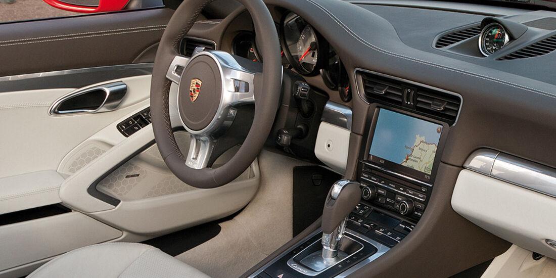 Porsche 911 Cabrio, Innenraum, Cockpit