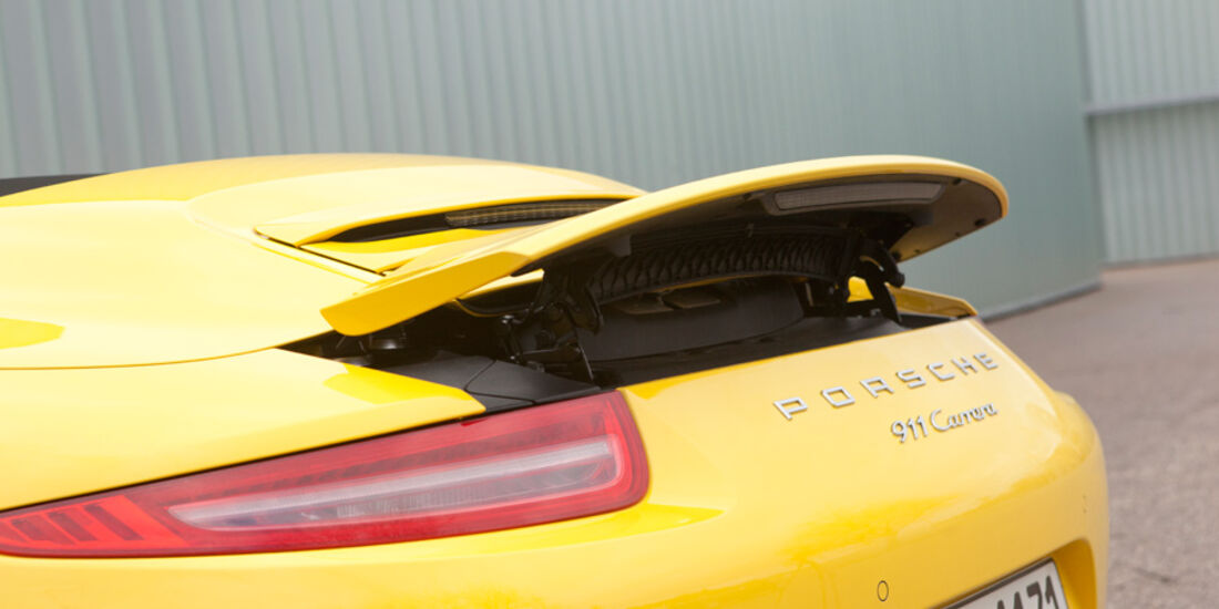Porsche 911 Carrera Cabriolet, Heckspoiler