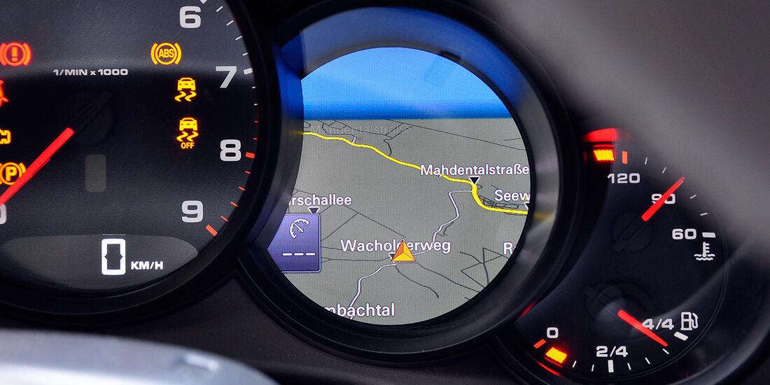 Porsche 911 Carrera, Instrumente, Navigationsdarstellung