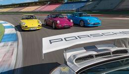Porsche 911 Carrera RS 2.7, Porsche 964, Porsche 993, Porsche 997 (4.0), Frontansicht