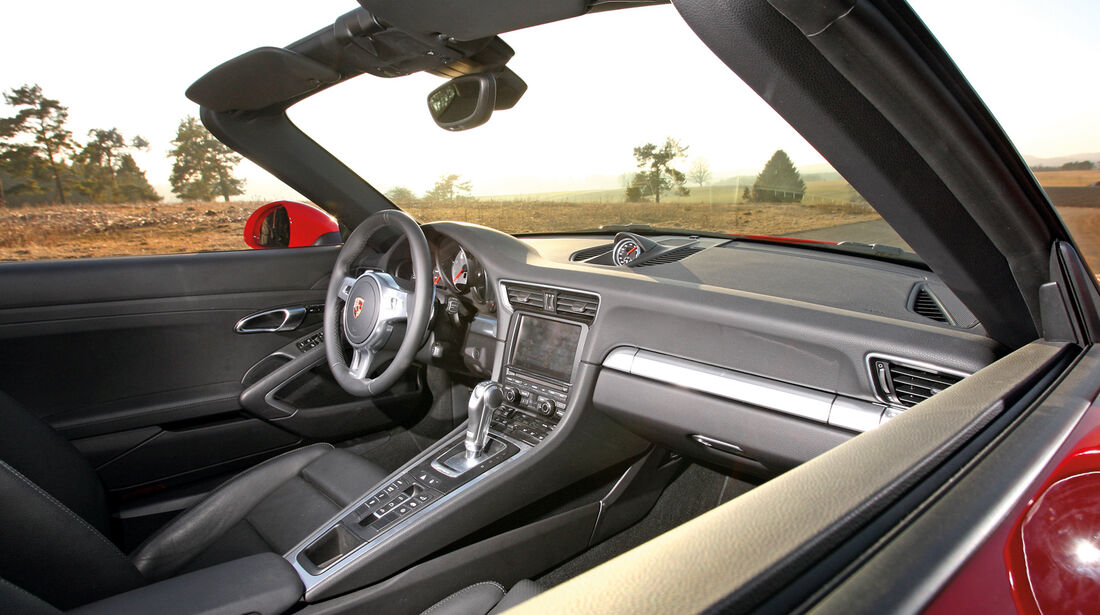 Porsche 911 Carrera S Cabrio, Cockpit, Seitenfenster