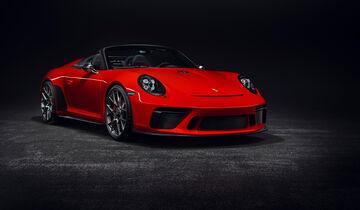 Porsche 911 Speedster Concept Paris 2018 Indisch Rot