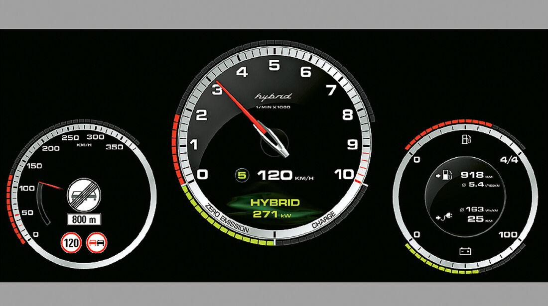 Porsche 918 Spyder Rundinstrumente