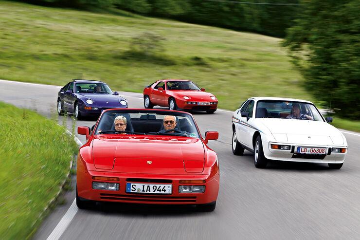 Porsche 928, 924, 968, 944 S2, Frontansicht
