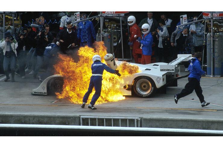 Porsche 962C Feuer