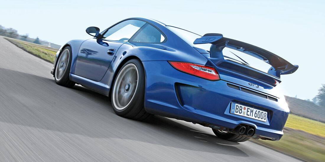 Porsche 997 GT3, Heckansicht