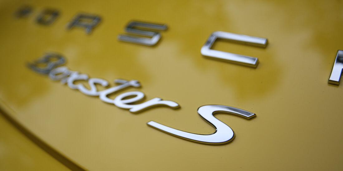 Porsche Boxster S, Typenbezeichnung, Schriftzug
