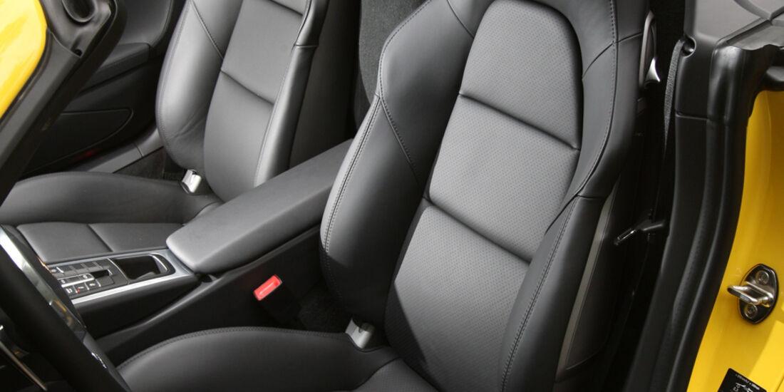 Porsche Boxster S, Vordersitz, Fahrersitz