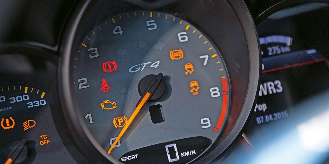 Porsche Cayman GT4, Rundinstrument