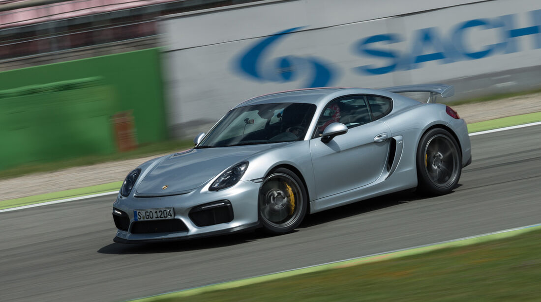 Porsche Cayman GT4, Seitenansicht
