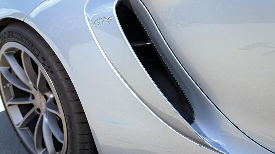 Porsche Cayman GT4, Seitenführung