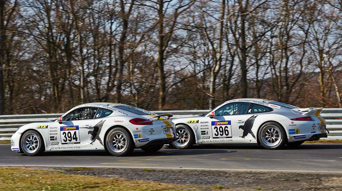 Porsche Cayman - Porsche 911 - VLN 1 - Nürburgring Nordschleife - 29. März 2014