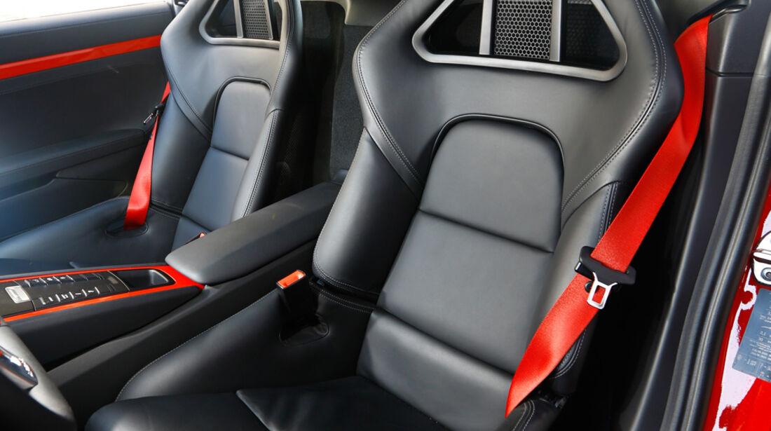 Porsche Cayman S, Fahrersitz, Sportsitz