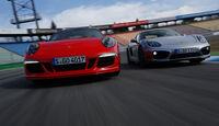 Porsche Cayman S, Porsche 911 Carrera S, Frontansicht
