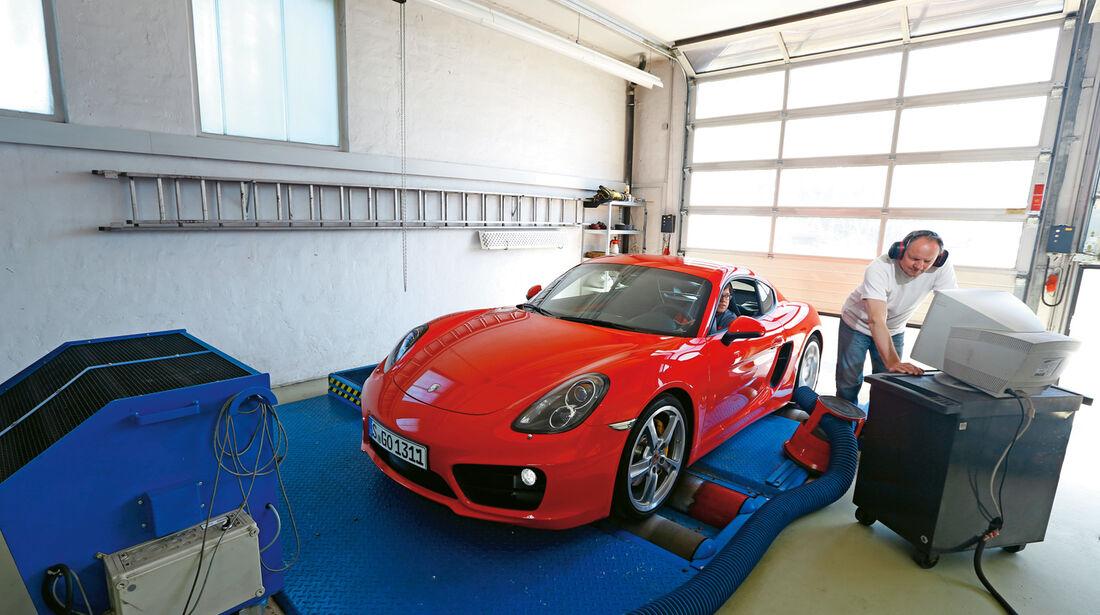 Porsche Cayman S, Prüfstand, Leistung