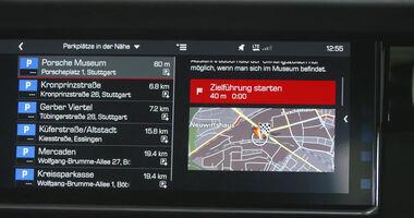 Porsche Connectivity Special Parkplatz Suche