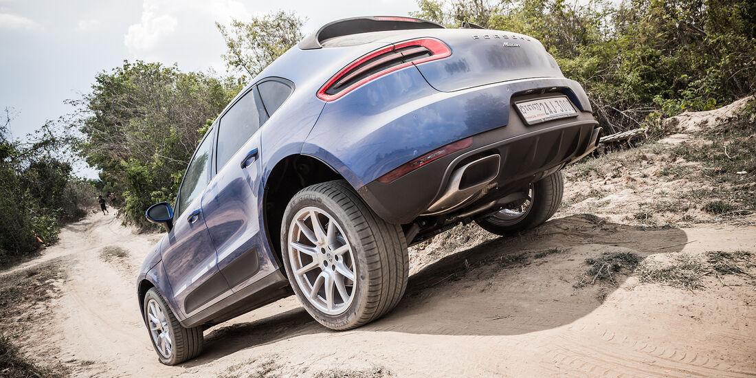 Porsche Macan Steigung Abfahrt